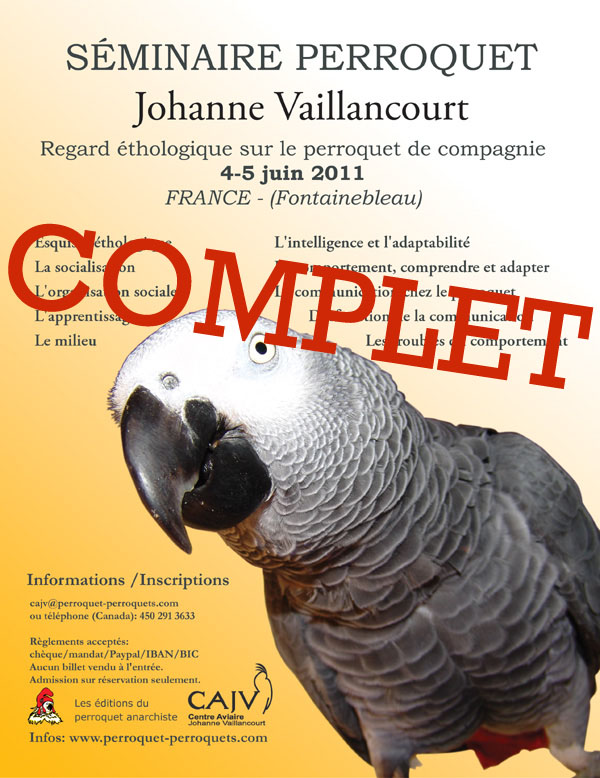 Poster Fontainebleau Seminar on parrots